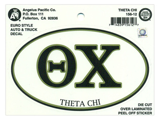 Theta Chi Euro Decal Oval Sticker