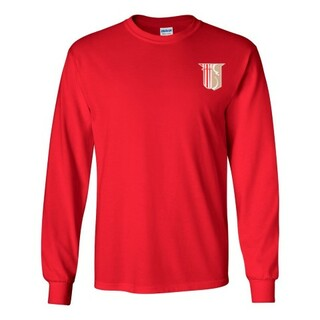 DISCOUNT-Theta Chi Fraternity Crest - Shield Longsleeve Tee