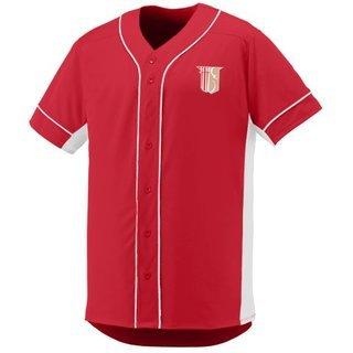 DISCOUNT-Theta Chi Fraternity Crest - Shield Slugger Baseball Jersey