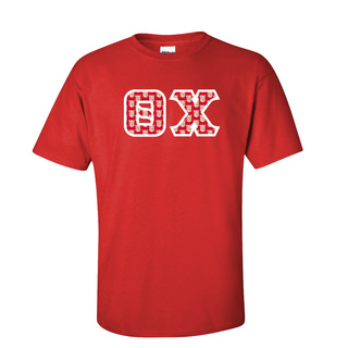 Theta Chi Fraternity Crest - Shield Twill Letter Tee