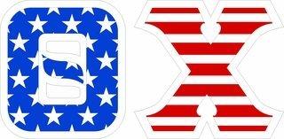 """Theta Chi Giant 4"""" American Flag Greek Letter Sticker"""