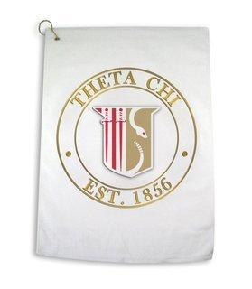 Theta Chi Giant Crest Golf Towel