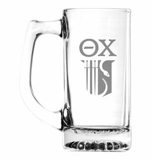 Theta Chi Glass Engraved 25 Ounce Mug