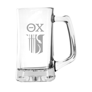 Theta Chi Glass Engraved Mug