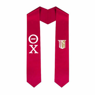 Theta Chi Greek Lettered Graduation Sash Stole With Crest