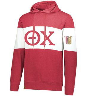 Theta Chi Ivy League Hoodie W Crest On Left Sleeve