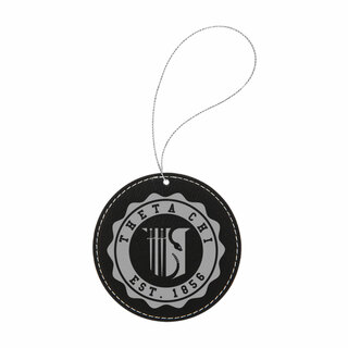 Theta Chi Leatherette Crest Holiday Ornament