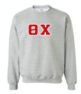 Theta Chi Sewn Lettered Crewneck Sweatshirt