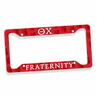 Theta Chi Custom License Plate Frame