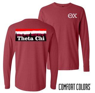 Theta Chi Outdoor Long Sleeve T-shirt - Comfort Colors