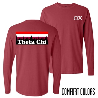 Theta Chi Outdoor Long Sleeve T-shirt - Comfort Colors