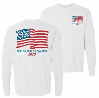 Theta Chi Old Glory Long Sleeve T-shirt - Comfort Colors