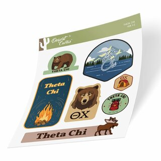 Theta Chi Outdoor Sticker Sheet
