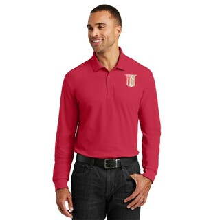 Theta Chi Emblem Long Sleeve Polo