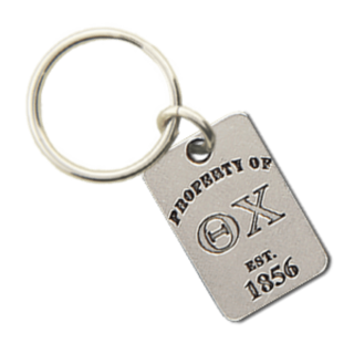 Theta Chi Property of Tag Keychain