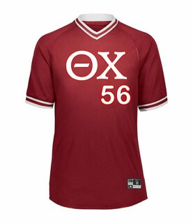 Theta Chi Retro V-Neck Baseball Jersey