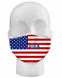 Theta Chi USA Flag Face Masks
