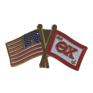 Theta Chi USA Flag Lapel Pin