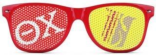 Theta Chi Wayfarer Style Lens Sunglasses