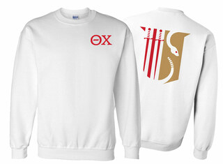 Theta Chi World Famous Crest - Shield Printed Crewneck Sweatshirt- $25!