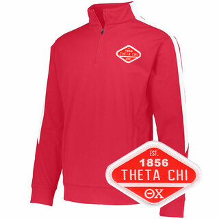 DISCOUNT-Theta Chi Woven Emblem Greek Medalist Pullover