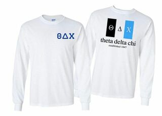Theta Delta Chi Flag Long Sleeve T-shirt