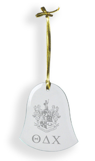 Theta Delta Chi Glass Bell Ornaments