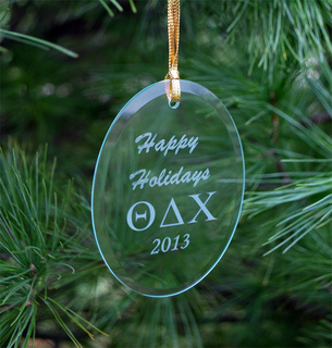 Theta Delta Chi Greek Holiday Glass Ornaments