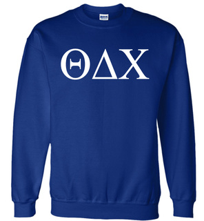 Theta Delta Chi Lettered World Famous Greek Crewneck