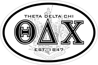 Theta Delta Chi Oval Crest - Shield Sticker
