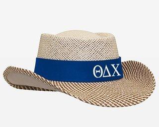 Theta Delta Chi Straw Hat