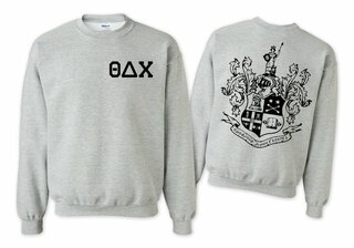 Theta Delta Chi World Famous Crest - Shield Crewneck Sweatshirt- $25!