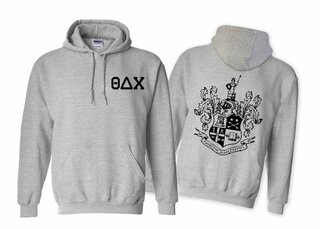 Theta Delta Chi World Famous Crest - Shield Printed Hooded Sweatshirt- $35!