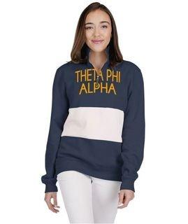 Theta Phi Alpha 1/4 Zip Over Zipper Quad Pullover