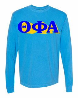 Theta Phi Alpha 3 D Greek Long Sleeve T-Shirt - Comfort Colors