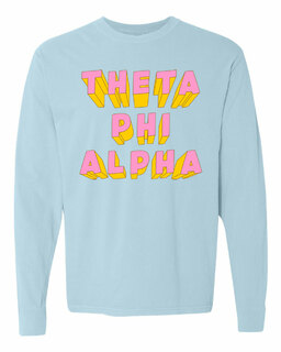 Theta Phi Alpha 3Delightful Long Sleeve T-Shirt - Comfort Colors