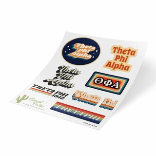 Theta Phi Alpha 70's Sticker Sheet