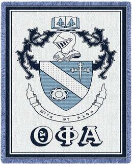 Theta Phi Alpha Afghan Blanket Throw