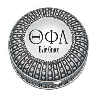 Theta Phi Alpha Antique Beaded Pin Box