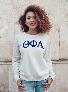 Theta Phi Alpha Arched Greek Lettered Crewneck Sweatshirt