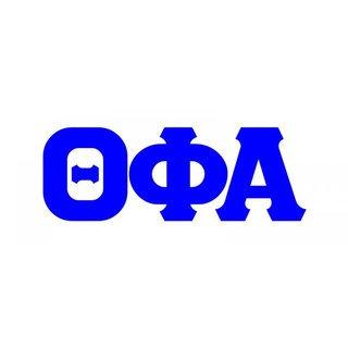 Theta Phi Alpha Big Greek Letter Window Sticker Decal
