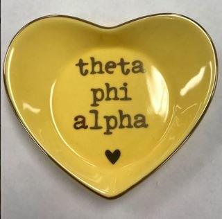Theta Phi Alpha Ceramic Ring Dish