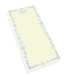 Theta Phi Alpha Chevron Long Notepad