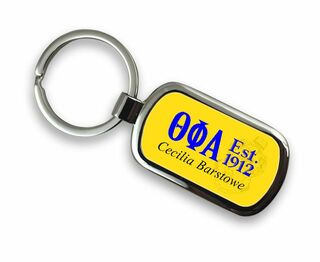 Theta Phi Alpha Chrome Crest - Shield Key Chain