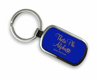 Theta Phi Alpha Chrome Mascot Key Chain