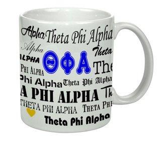 Theta Phi Alpha Collage Coffee Mug