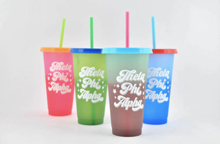 Theta Phi Alpha Color Changing Cups (Set of 4)