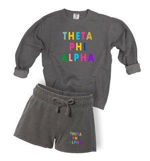 Theta Phi Alpha Comfort Colors Crew and Short Set