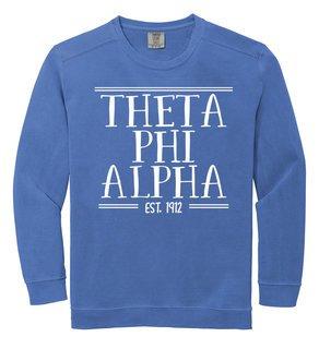 Theta Phi Alpha Comfort Colors Custom Crewneck Sweatshirt