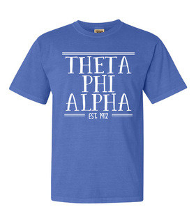 Theta Phi Alpha Comfort Colors Custom Heavyweight T-Shirt
